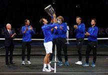 """Roger Federer parla della Laver Cup: """"Vedere tutti questi volti sorridenti e la felicità di tutti dopo il match point, mi ha fatto provare una sensazione come se avessi vinto uno dei match più importanti della mia vita"""" (Video)"""