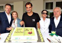 Roger Federer e la torta sbagliata del torneo di Halle