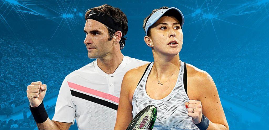 Roger Federer e Belinda Bencic nella foto