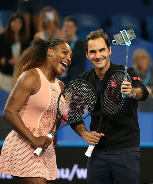 Serena Williams e Roger Federer  nella foto