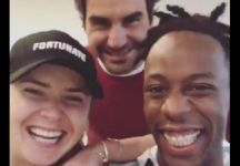 Tra Monfils e Svitolina irrompe Roger Federer (VIDEO)