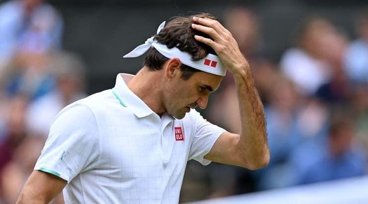 Roger Federer, ancora fermo per problemi al ginocchio