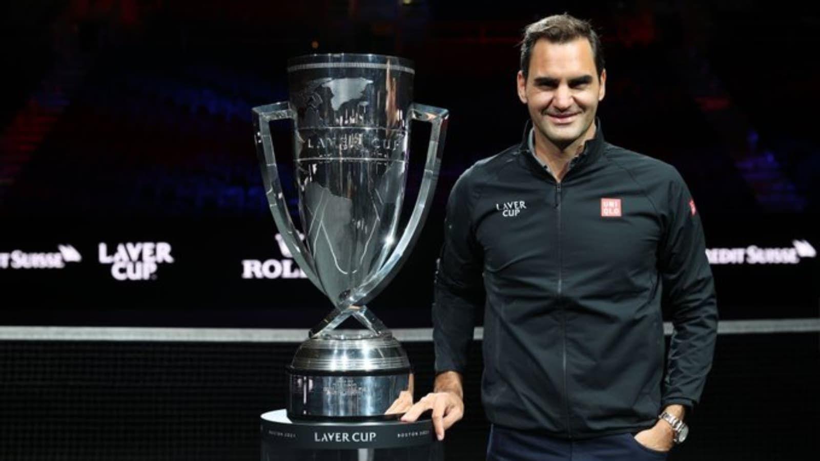 Roger posa con la Laver Cup