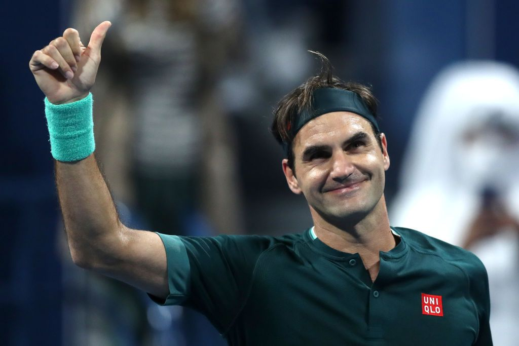 Roger Federer, tornato in campo dopo 405 giorni