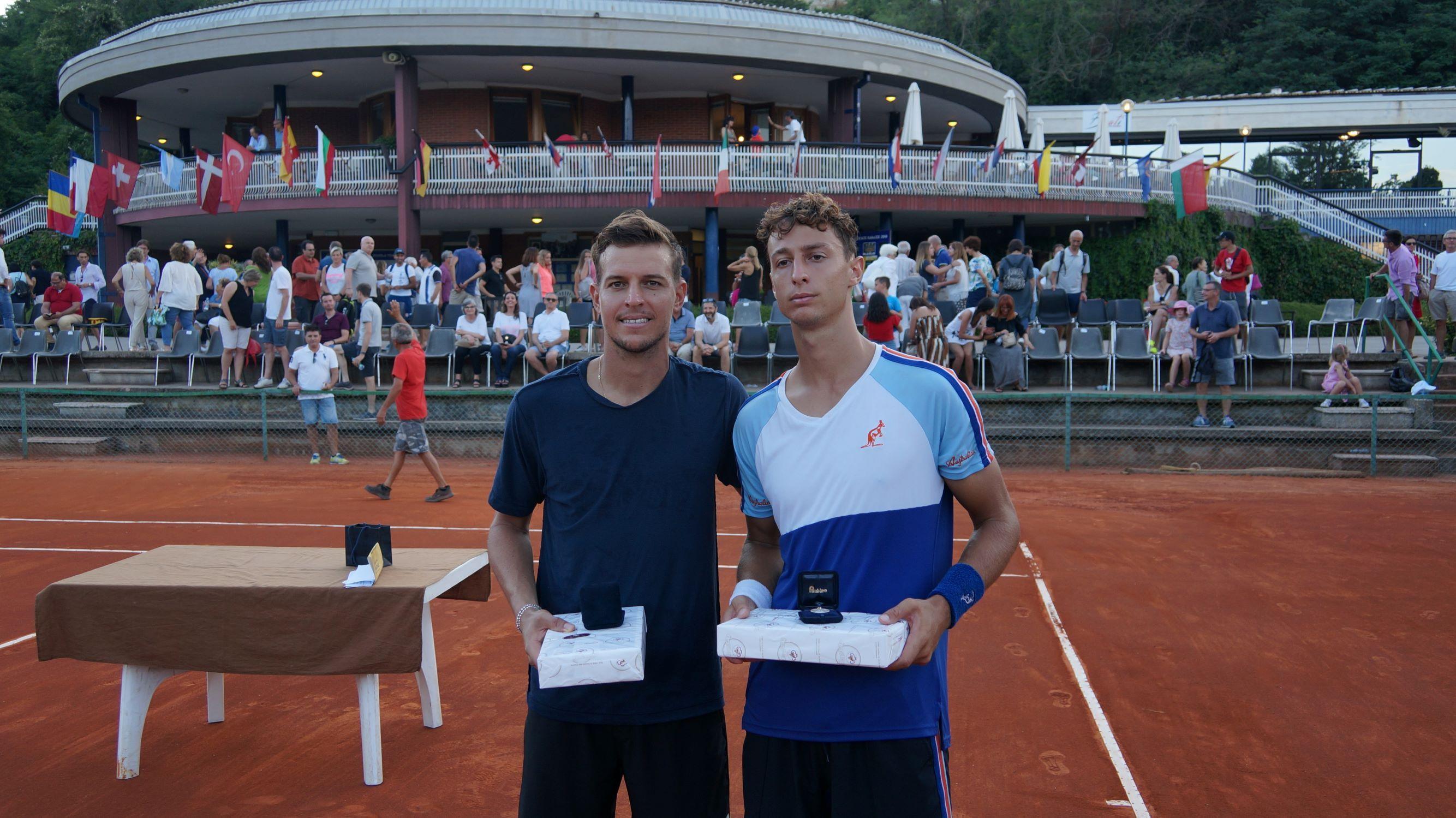 Il vincitore e finalista del torneo di Cuneo