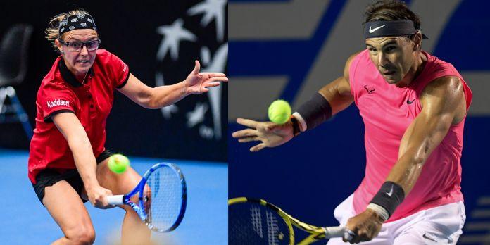 Kirsten Flipkens e Rafael Nadal