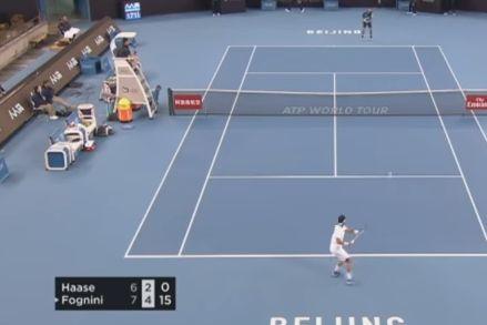 Le fasi finali della vittoria di Fabio Fognini contro Robin Haase (Video)