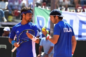 Paolo Lorenzi e Fabio Fognini nella foto