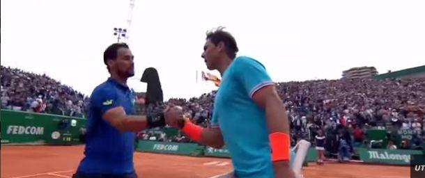 Fabio Fognini e Rafael Nadal nella foto