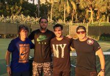 Roberto Quiroz Gomez e l'allenamento con Fabio Fognini