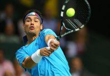 Davis Cup Semifinale: Svizzera vs Italia 3-1. Fabio Fognini gioca uno splendido terzo set ma non basta per prolungare la partita. Roger Federer porta gli elvetici in finale dove sfideranno la Francia (fuori casa)