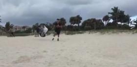 Fabio Fognini si allena sulla sabbia (Video)