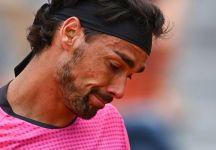 ATP Bastad: Male Fabio Fognini. Sconfitto nel suo match d'esordio da Roberto Carballes Baena