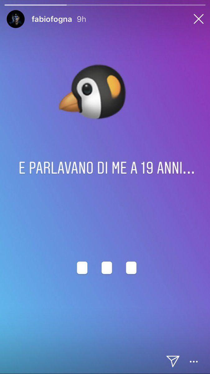 L'immagine di una stories Instagram tratta dal profilo di Fabio Fognini