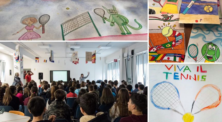 Oltre 350 disegni raccolti per più di 400 bambini e ragazzi che hanno partecipato al concorso per disegnare la locandina della IV degli Internazionali di Tennis d'Abruzzo, in programma dal 20 al 26 aprile 2020.