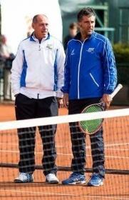 Giorglio Galimberti con Corrado Barazzutti
