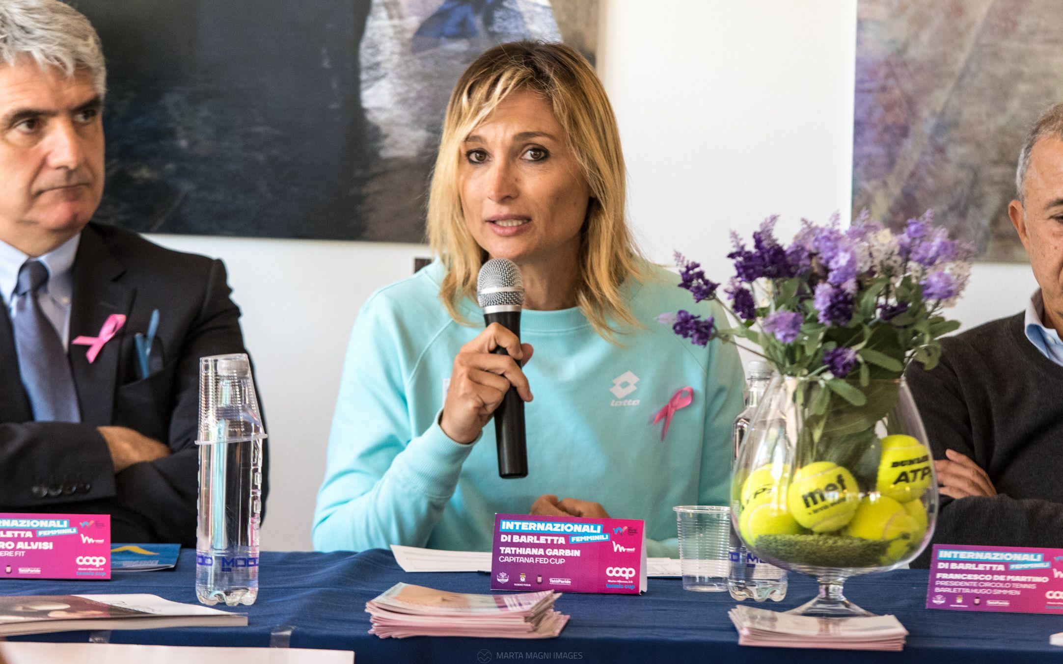 Tathiana Garbin, capitano di Fed Cup.