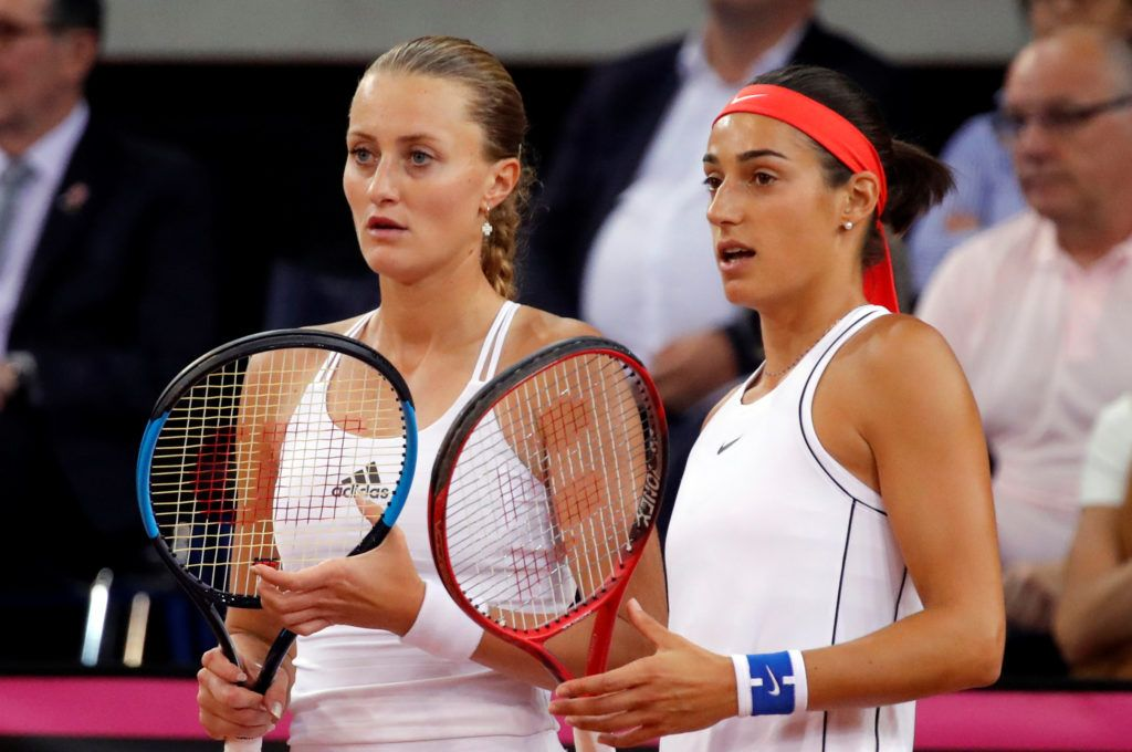 Caroline Garcia e Kristina Mladenovic nella foto