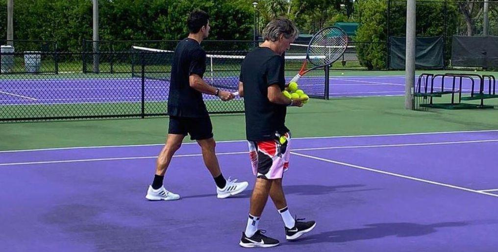 Franco Davin con Cristian Garin