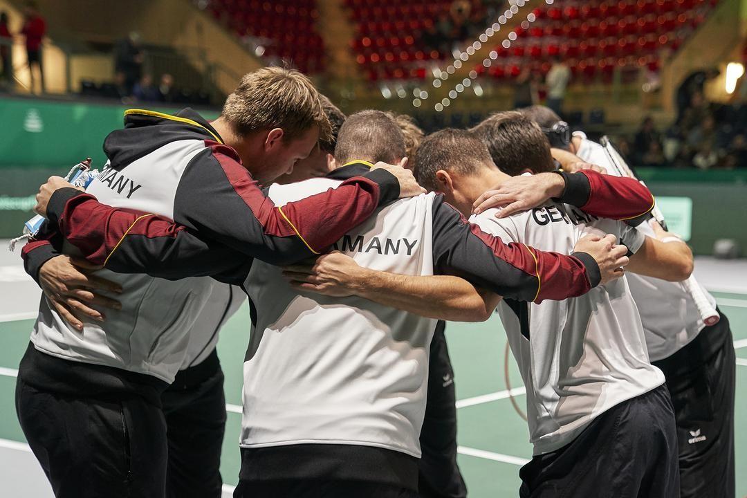 La squadra tedesca di Coppa Davis presente a Madrid