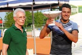 Alessandro Giannessi, 25 anni da La Spezia, ha vinto la prima edizione del Futures da 10 mila dollari di Lodi