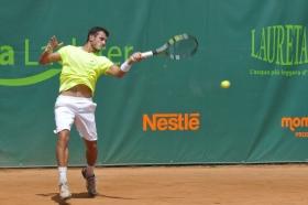 Alessandro Giannessi vincente su Marton Fucsovics. Foto Fabio Lesca.