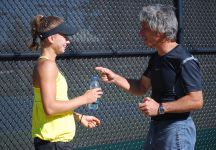 Camila Giorgi  e l'assenza del padre Sergio nel torneo di Sydney