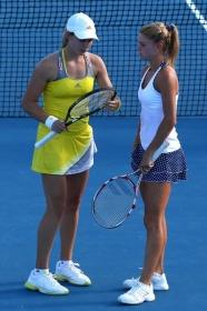 Camila Giorgi ha giocato l'Australian Open di doppio in coppia con la Voegele