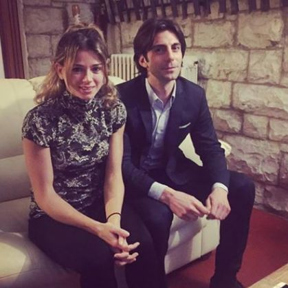 Camila Giorgi e Lorenzo Carera nella foto