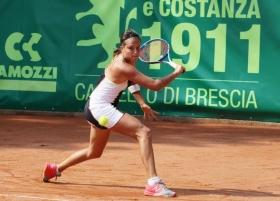 Claudia Giovine ha firmato l'impresa superando la numero 4 Cirstea - (foto Maffeis).
