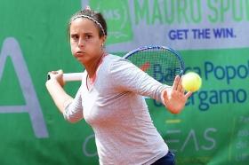 Claudia Giovine, 26 anni da Brindisi, ha superato le qualificazioni a Bagnatica. Sconfitta Giulia Remondina dopo una battaglia di oltre 3 ore (Foto San Marco)