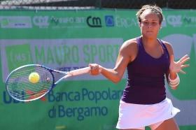 Claudia Giovine, brindisina classe 1990, è ai quarti di finale del Trofeo Cpz dopo il successo nel derby azzurro con Natasha Piludu - Foto San Marco