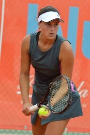 Claudia Giovine, brindisina, ha superato il primo turno del torneo femminile - Foto Studio Rosati