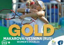 Rio 2016: Vesnina e Makarova sono medaglia d'oro nel doppio. Niente Oro per Hingis-Bacsinszky