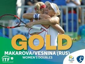 Vesnina e Makarova sono medaglia d'oro nel doppio