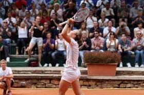 La svizzera Golubic, 22 anni, nel momento del trionfo a Brescia due anni fa