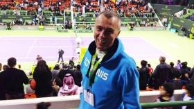 Fabio Goretti, coach al Tennis Training Villa Candida a Foligno. Al momento segue Thomas Fabbiano e Luca Vanni.