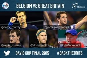 Davis Cup: Belgio vs Gran Bretagna. I convocati britannici