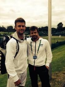 Laurynas Grigelis e Beppe Menga sui campi di Roehampton, sede delle qualificazioni di Wimbledon