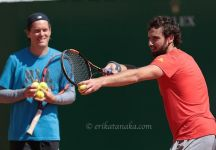 Ernests Gulbis si allena con Thomas Enquist