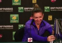 Simona Halep ed il trofeo di Indian Wells (Video)