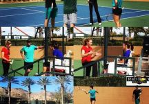 Simona Halep si allena con Agassi e Steffi Graf