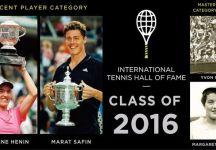 Safin ed Henin nell'Hall of Fame