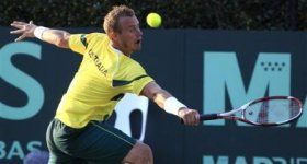 Lleyton Hewitt sotto per 5 a 3 nel quinto set nel match decisivo per la permanenza nel World Group di Coppa Davis