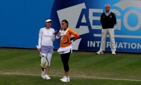 Martina Hingis impegnata questa settimana in doppio con la nostra Flavia Pennetta