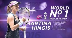 Martina Hingis classe 1980, n.1 del mondo in doppio