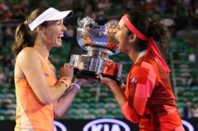 Martina Hingis e Sania Mirza nella foto