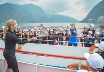 Martina Hingis inaugura il torneo di Lugano da un battello