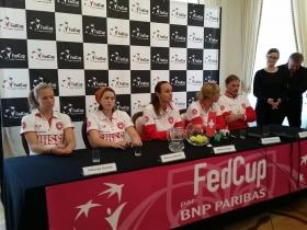 La squadra svizzera di Fed Cup