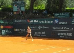 Nella foto Verena Hofer, wild card a Roma Tevere